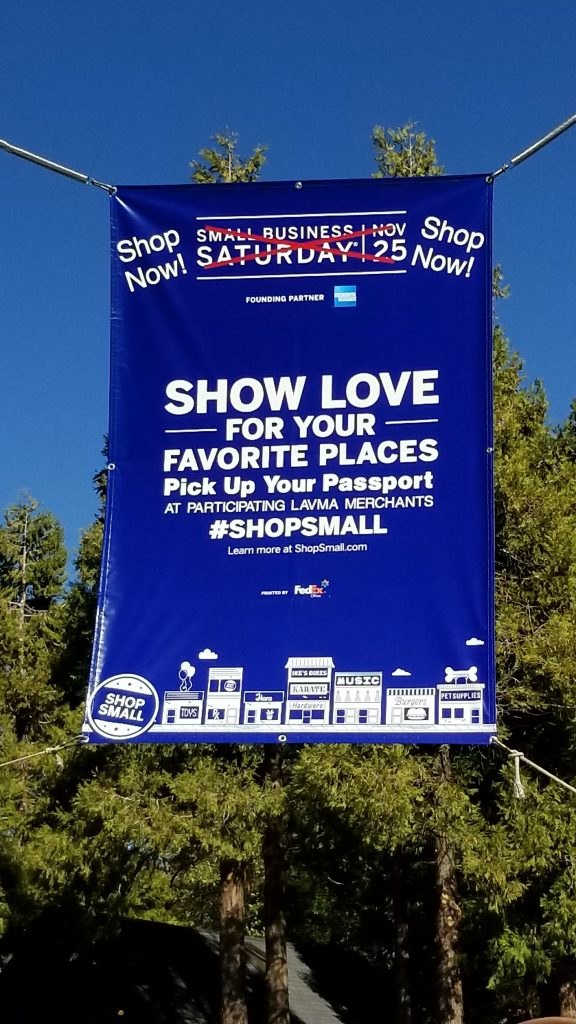 Small Business Saturday Banner - Lake Arrowhead Village