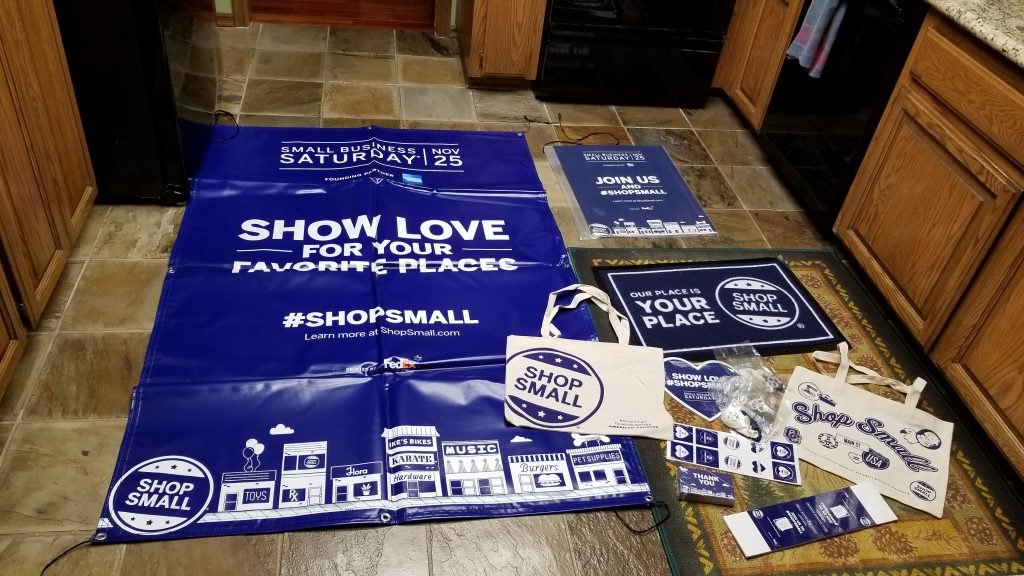 Promotional Material from Small Business Saturday